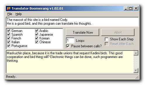 Google Translator Boomerang - DonationCoder com