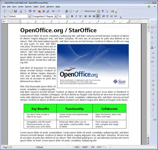 open office. OpenOffice.org is the first